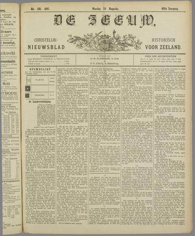 De Zeeuw. Christelijk-historisch nieuwsblad voor Zeeland 1897-08-24
