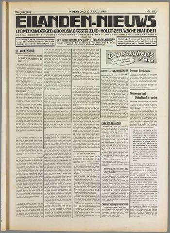 Eilanden-nieuws. Christelijk streekblad op gereformeerde grondslag 1940-04-10