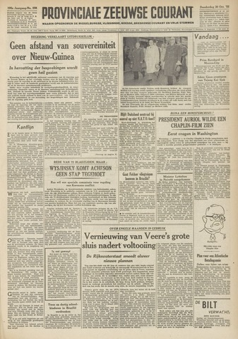 Provinciale Zeeuwse Courant 1952-10-30
