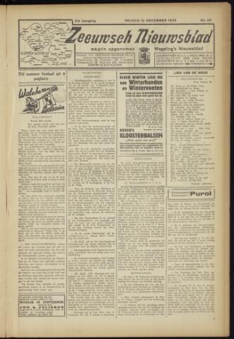 Zeeuwsch Nieuwsblad/Wegeling's Nieuwsblad 1935-12-13