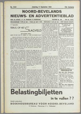 Noord-Bevelands Nieuws- en advertentieblad 1949-09-17