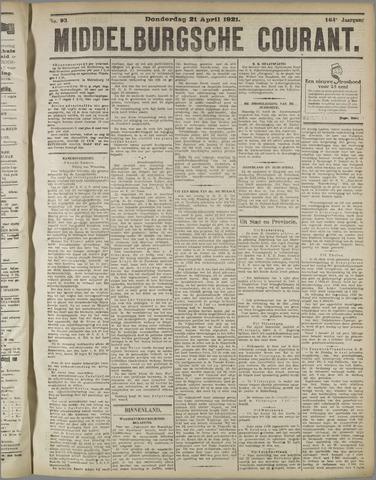 Middelburgsche Courant 1921-04-21