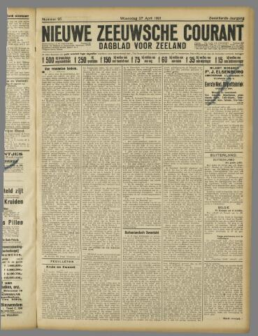 Nieuwe Zeeuwsche Courant 1921-04-27