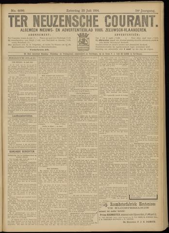 Ter Neuzensche Courant. Algemeen Nieuws- en Advertentieblad voor Zeeuwsch-Vlaanderen / Neuzensche Courant ... (idem) / (Algemeen) nieuws en advertentieblad voor Zeeuwsch-Vlaanderen 1914-07-25