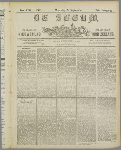 De Zeeuw. Christelijk-historisch nieuwsblad voor Zeeland 1910-09-05