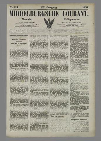 Middelburgsche Courant 1888-09-10