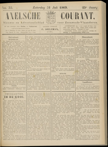 Axelsche Courant 1909-07-31