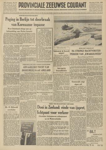 Provinciale Zeeuwse Courant 1954-02-08