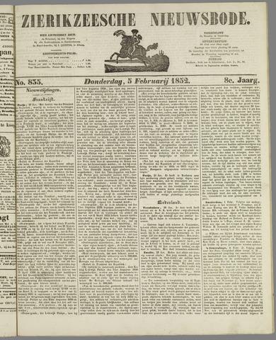 Zierikzeesche Nieuwsbode 1852-02-05