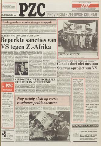Provinciale Zeeuwse Courant 1985-09-09