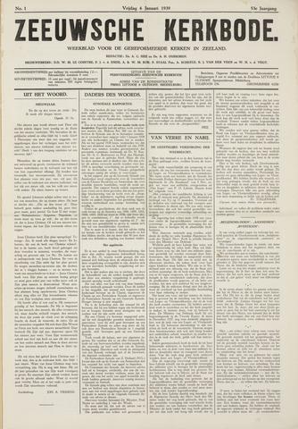 Zeeuwsche kerkbode, weekblad gewijd aan de belangen der gereformeerde kerken/ Zeeuwsch kerkblad 1939
