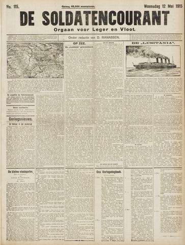 De Soldatencourant. Orgaan voor Leger en Vloot 1915-05-12