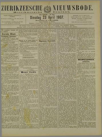 Zierikzeesche Nieuwsbode 1907-04-23