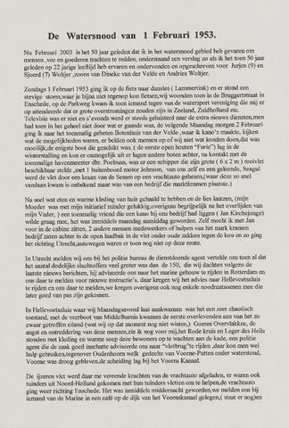 Watersnood documentatie 1953 - diversen 2003-02-01