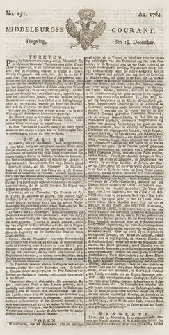 Middelburgsche Courant 1764-12-18