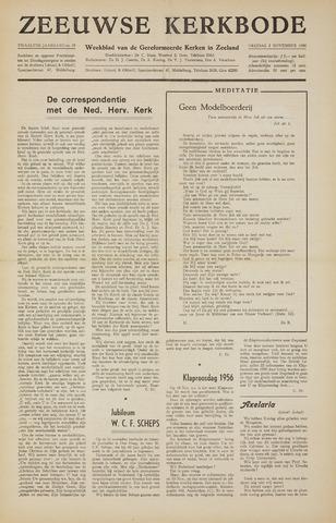 Zeeuwsche kerkbode, weekblad gewijd aan de belangen der gereformeerde kerken/ Zeeuwsch kerkblad 1956-11-02