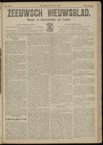 Ter Neuzensch Volksblad. Vrijzinnig nieuws- en advertentieblad voor Zeeuwsch- Vlaanderen / Zeeuwsch Nieuwsblad. Nieuws- en advertentieblad voor Zeeland 1918-10-09