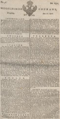 Middelburgsche Courant 1771-04-16