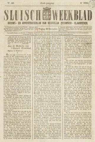 Sluisch Weekblad. Nieuws- en advertentieblad voor Westelijk Zeeuwsch-Vlaanderen 1865-12-29