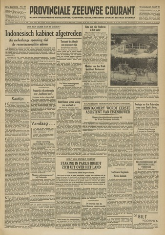 Provinciale Zeeuwse Courant 1951-03-21