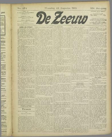 De Zeeuw. Christelijk-historisch nieuwsblad voor Zeeland 1919-08-25