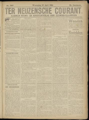 Ter Neuzensche Courant. Algemeen Nieuws- en Advertentieblad voor Zeeuwsch-Vlaanderen / Neuzensche Courant ... (idem) / (Algemeen) nieuws en advertentieblad voor Zeeuwsch-Vlaanderen 1924-04-23