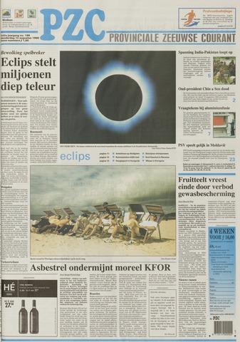 Provinciale Zeeuwse Courant 1999-08-12