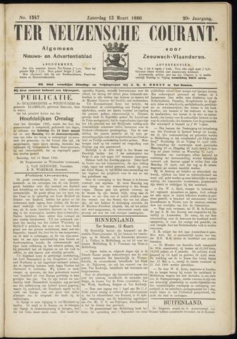 Ter Neuzensche Courant. Algemeen Nieuws- en Advertentieblad voor Zeeuwsch-Vlaanderen / Neuzensche Courant ... (idem) / (Algemeen) nieuws en advertentieblad voor Zeeuwsch-Vlaanderen 1880-03-13