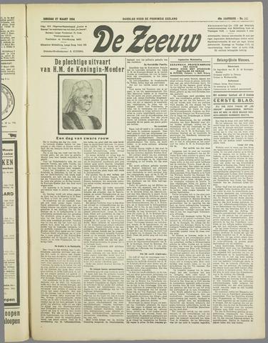 De Zeeuw. Christelijk-historisch nieuwsblad voor Zeeland 1934-03-27