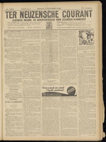 Ter Neuzensche Courant. Algemeen Nieuws- en Advertentieblad voor Zeeuwsch-Vlaanderen / Neuzensche Courant ... (idem) / (Algemeen) nieuws en advertentieblad voor Zeeuwsch-Vlaanderen 1934-11-09