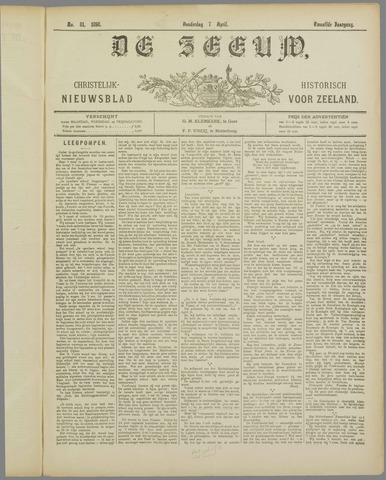 De Zeeuw. Christelijk-historisch nieuwsblad voor Zeeland 1898-04-07