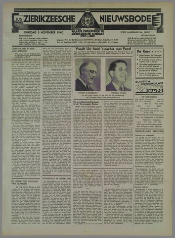 Zierikzeesche Nieuwsbode 1940-11-05