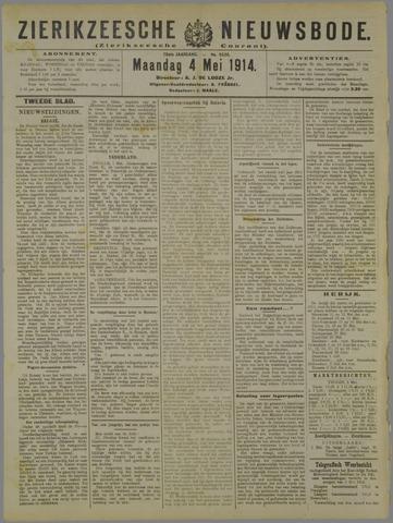 Zierikzeesche Nieuwsbode 1914-05-04