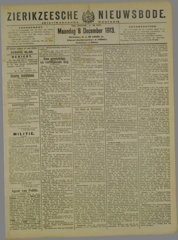 Zierikzeesche Nieuwsbode 1913-12-08