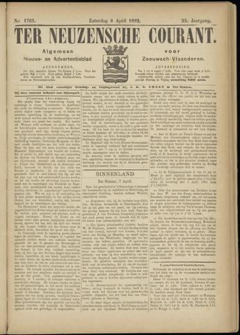 Ter Neuzensche Courant. Algemeen Nieuws- en Advertentieblad voor Zeeuwsch-Vlaanderen / Neuzensche Courant ... (idem) / (Algemeen) nieuws en advertentieblad voor Zeeuwsch-Vlaanderen 1882-04-08
