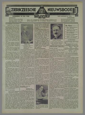 Zierikzeesche Nieuwsbode 1940-07-24