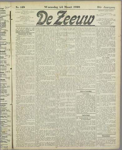 De Zeeuw. Christelijk-historisch nieuwsblad voor Zeeland 1920-03-24