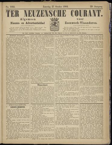 Ter Neuzensche Courant. Algemeen Nieuws- en Advertentieblad voor Zeeuwsch-Vlaanderen / Neuzensche Courant ... (idem) / (Algemeen) nieuws en advertentieblad voor Zeeuwsch-Vlaanderen 1883-10-27