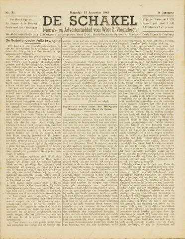 De Schakel 1945-08-13