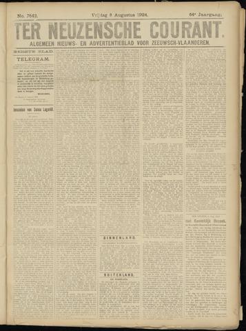 Ter Neuzensche Courant. Algemeen Nieuws- en Advertentieblad voor Zeeuwsch-Vlaanderen / Neuzensche Courant ... (idem) / (Algemeen) nieuws en advertentieblad voor Zeeuwsch-Vlaanderen 1924-08-08