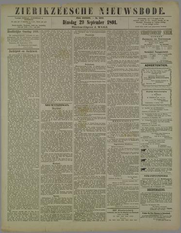 Zierikzeesche Nieuwsbode 1891-09-29