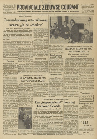 Provinciale Zeeuwse Courant 1954-07-01