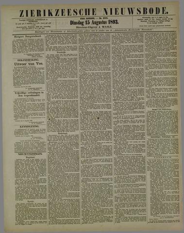 Zierikzeesche Nieuwsbode 1893-08-15