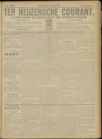 Ter Neuzensche Courant. Algemeen Nieuws- en Advertentieblad voor Zeeuwsch-Vlaanderen / Neuzensche Courant ... (idem) / (Algemeen) nieuws en advertentieblad voor Zeeuwsch-Vlaanderen 1917-06-14