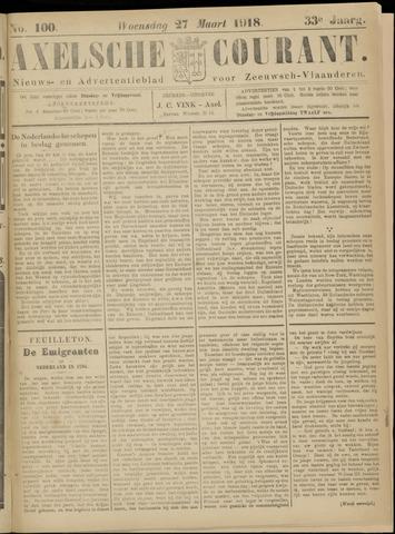 Axelsche Courant 1918-03-27