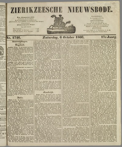 Zierikzeesche Nieuwsbode 1860-10-06