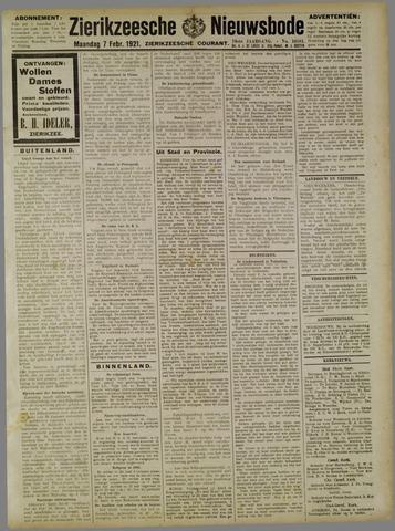 Zierikzeesche Nieuwsbode 1921-02-07