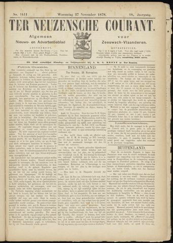Ter Neuzensche Courant. Algemeen Nieuws- en Advertentieblad voor Zeeuwsch-Vlaanderen / Neuzensche Courant ... (idem) / (Algemeen) nieuws en advertentieblad voor Zeeuwsch-Vlaanderen 1878-11-27