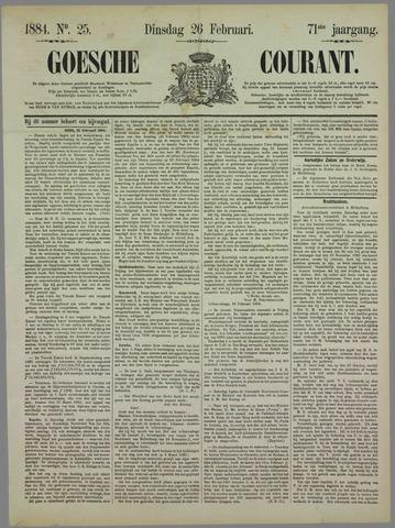 Goessche Courant 1884-02-26