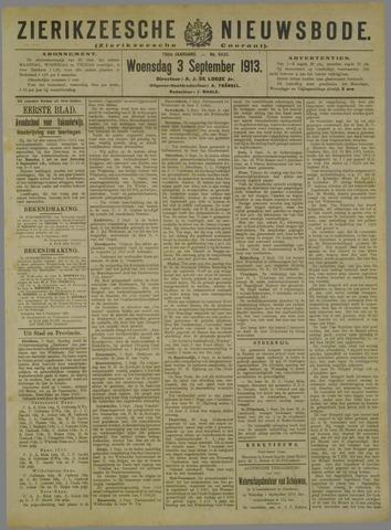 Zierikzeesche Nieuwsbode 1913-09-03